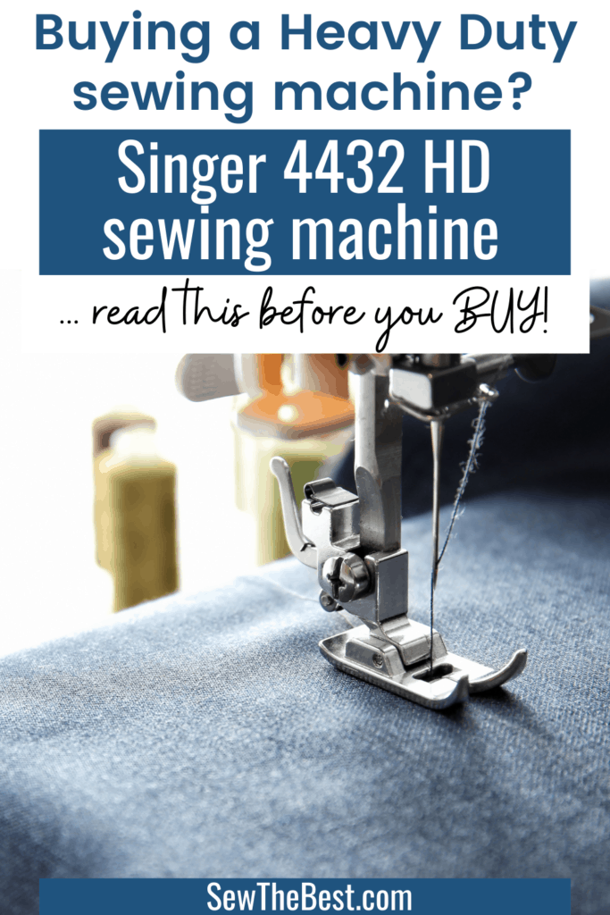 Buying a heavy duty sewing machine and wondering which one is best? Read this Singer heavy duty 4432 review before you buy! Learn all about the Singer 4432 heavy duty sewing machine and find out if it's right for you. #AD #sewingMachine #Sewing