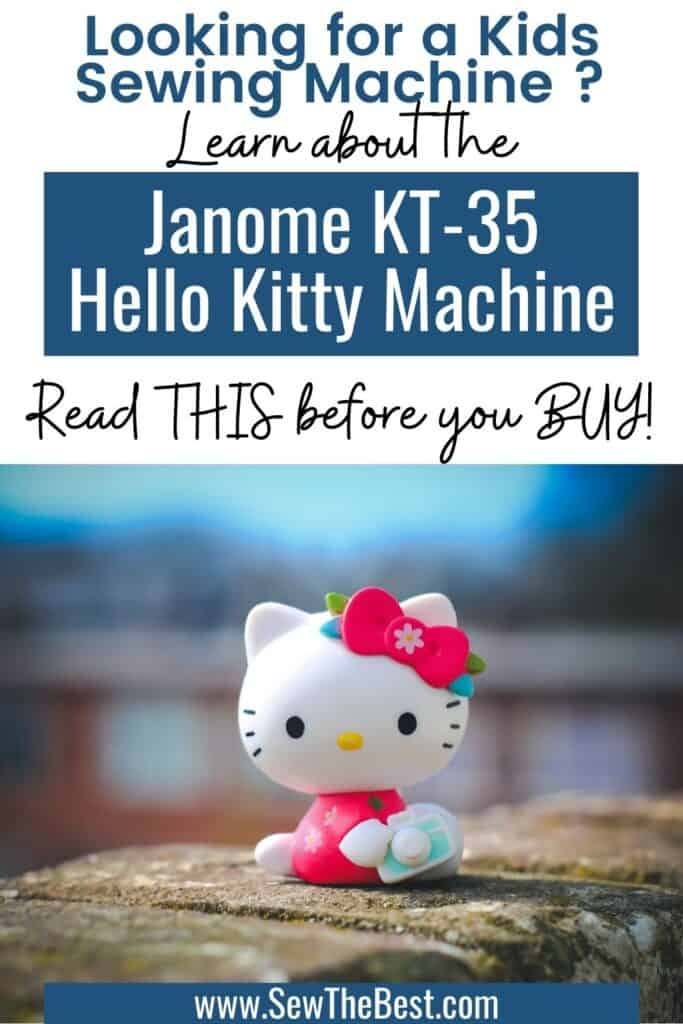 Hello Kitty KT-35 review. Are these sewing machines just toys? Learn more about the Hello Kitty sewing machines. #AD #SewingMachine #Sewing #HelloKitty